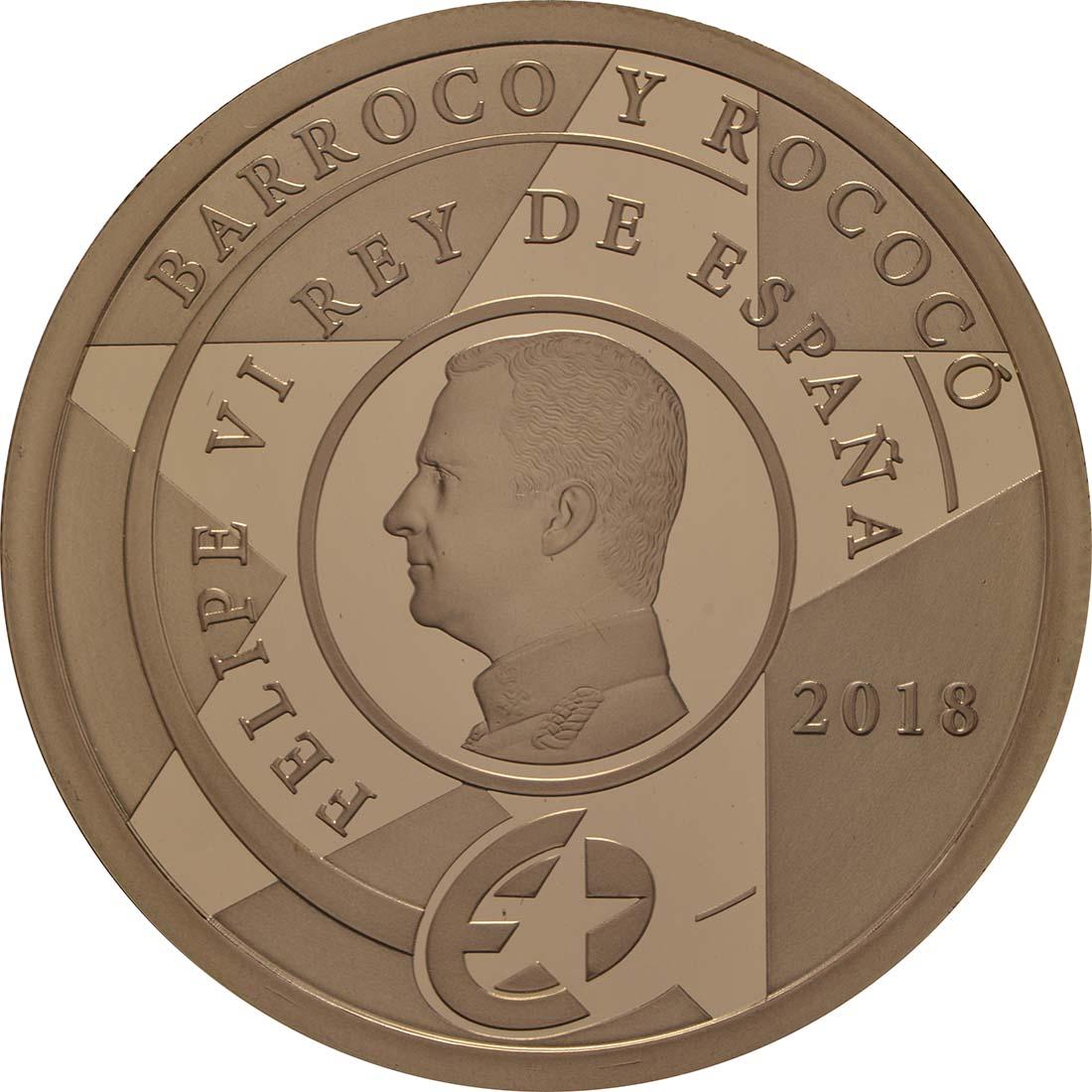 Rückseite:Spanien : 200 Euro Barock und Rokoko  2018 PP