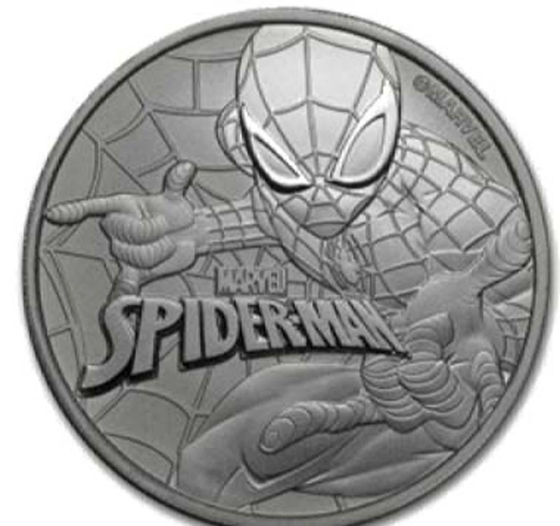 Tuvalu : 1 Dollar Spiderman  2017 Stgl.