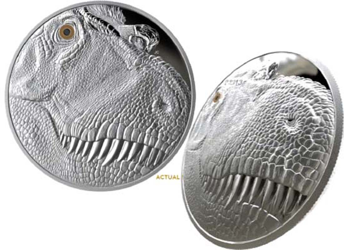 Kanada : 250 Dollar Tyrannosaurus Rex mit Emaille-Auge  2018 PP