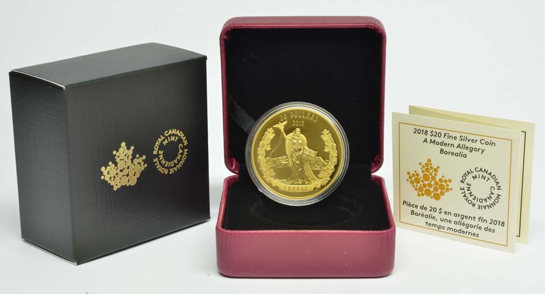 Kanada : 20 Dollar Borealia - A Modern Allegory  - vergoldet  2018 PP