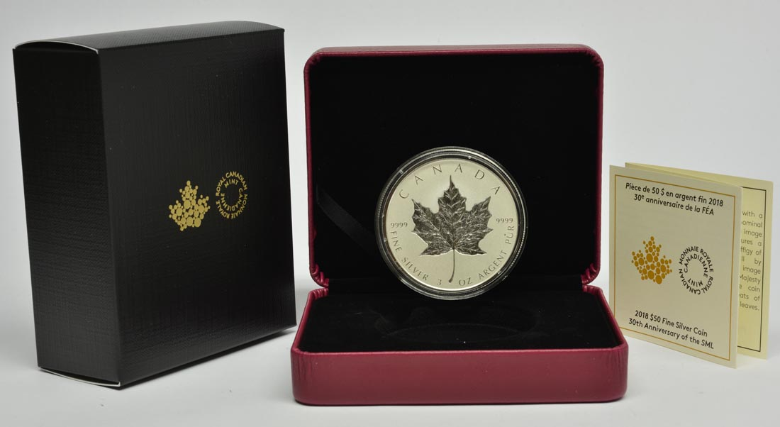 Kanada : 50 Dollar 30 Jahre Maple Leaf - Incuse  2018 PP