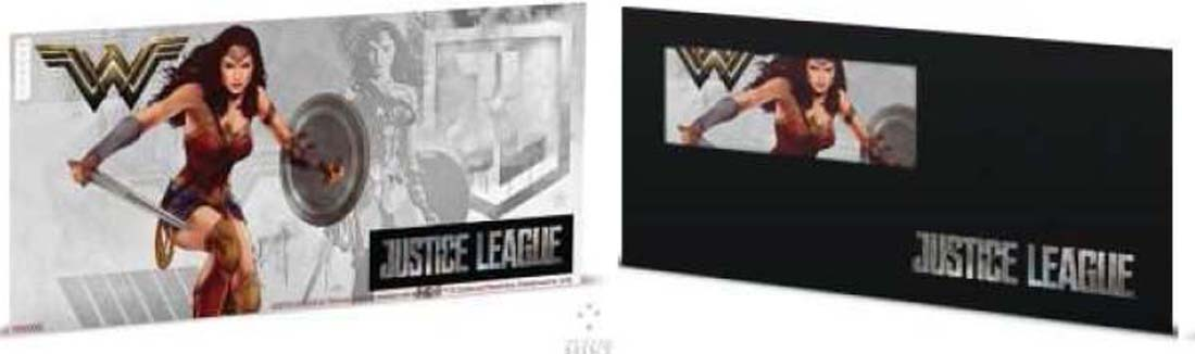 Niue : 1 Dollar Justice League - Wonder Woman Silberbanknote  2018 Stgl.