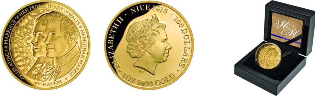 Niue : 100 Dollar Royal Wedding - Harry und Meghan  2018 PP