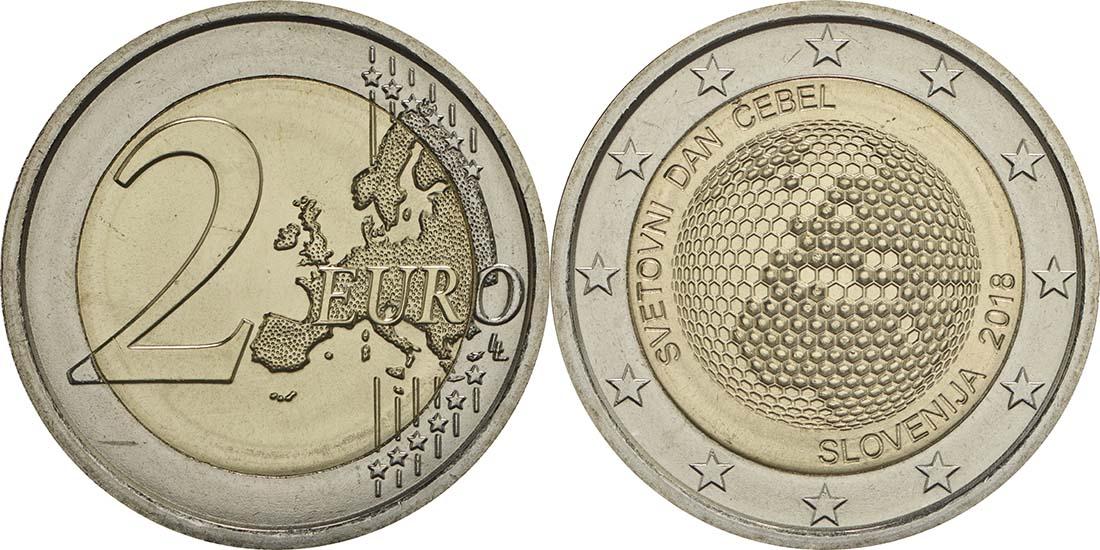 Lieferumfang:Slowenien : 2 Euro Weltbienentag  2018 bfr