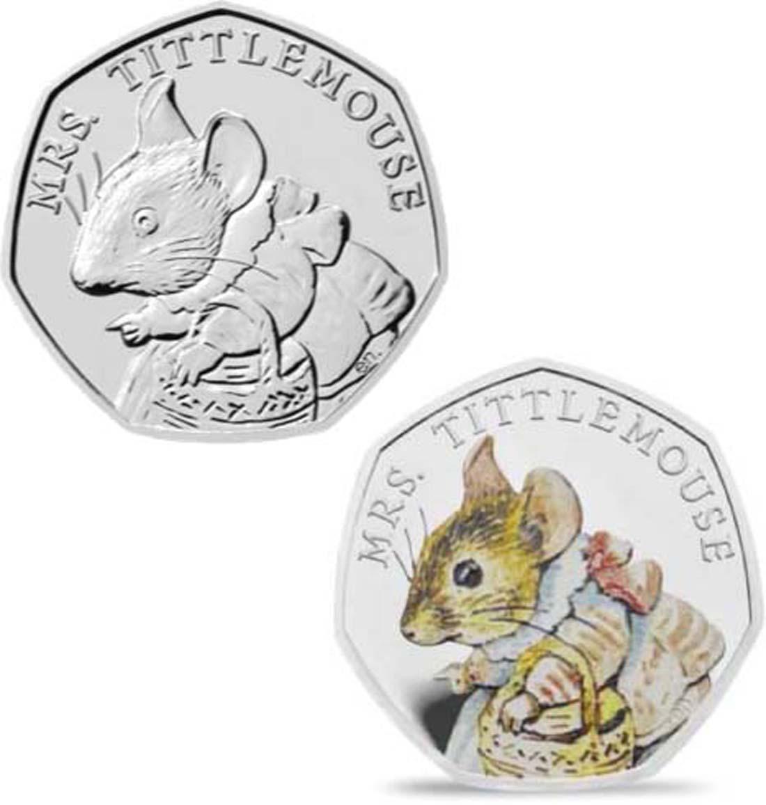 Übersicht:Großbritannien : 50 Pence Beatrix Potter - Mrs. Tittlemouse  2018 PP