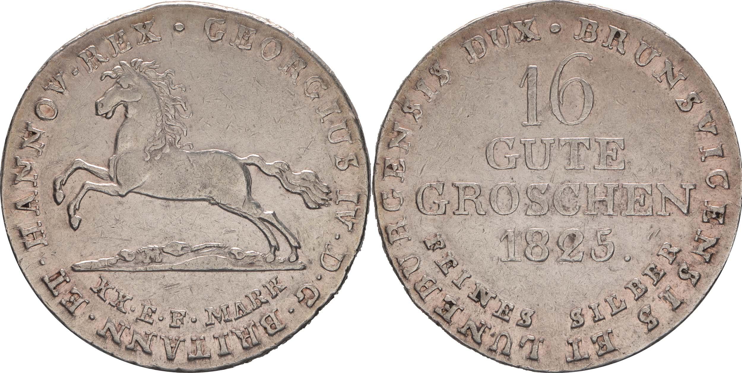 Lieferumfang:Deutschland : 16 Gute Groschen Georg IV  1825 ss/vz.
