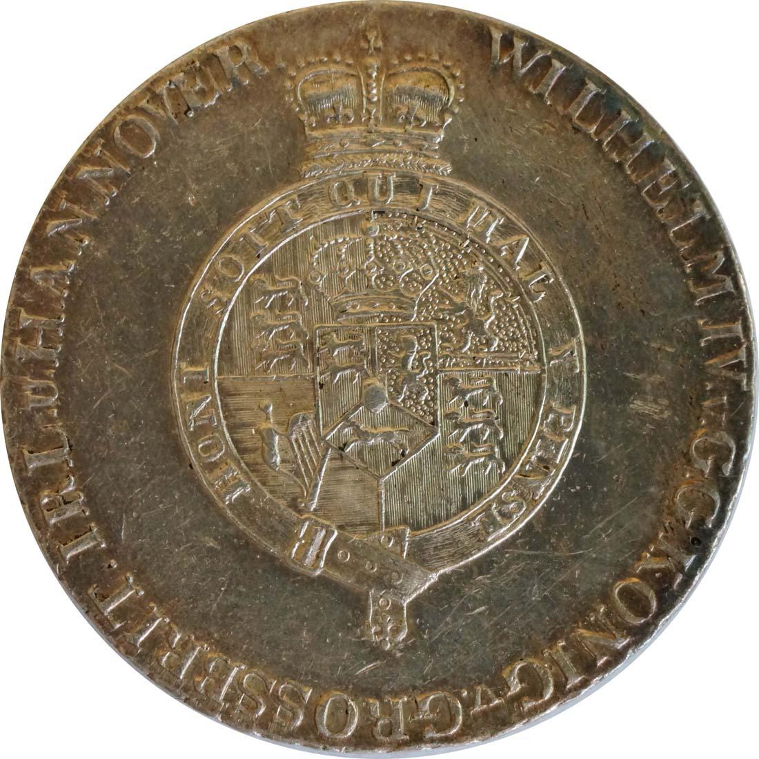 Rückseite:Deutschland : 2/3 Taler Wilhelm IV 1830 - 1837 SELTENE VARIANTE winz. Kratzer, patina 1833 vz.