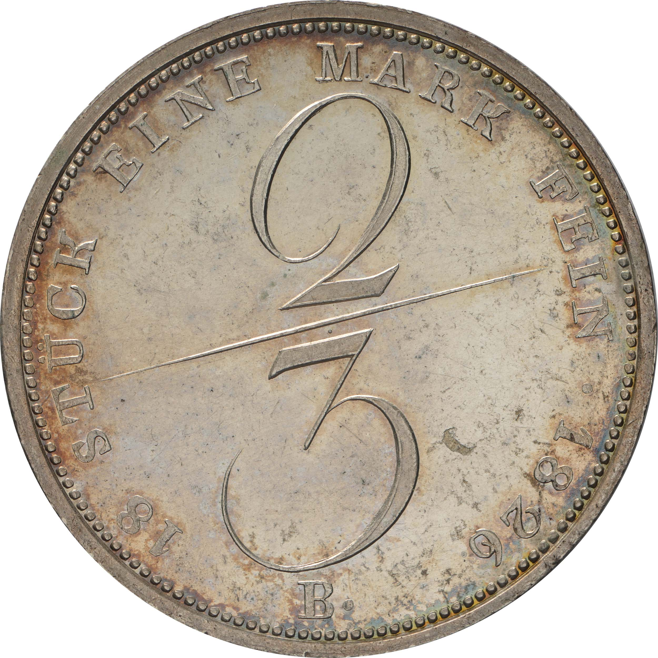 Rückseite :Deutschland : 2/3 Taler Georg IV 1820 - 1830 patina, winz. Kratzer, winz. Schrötlf. 1826 f.Stgl.