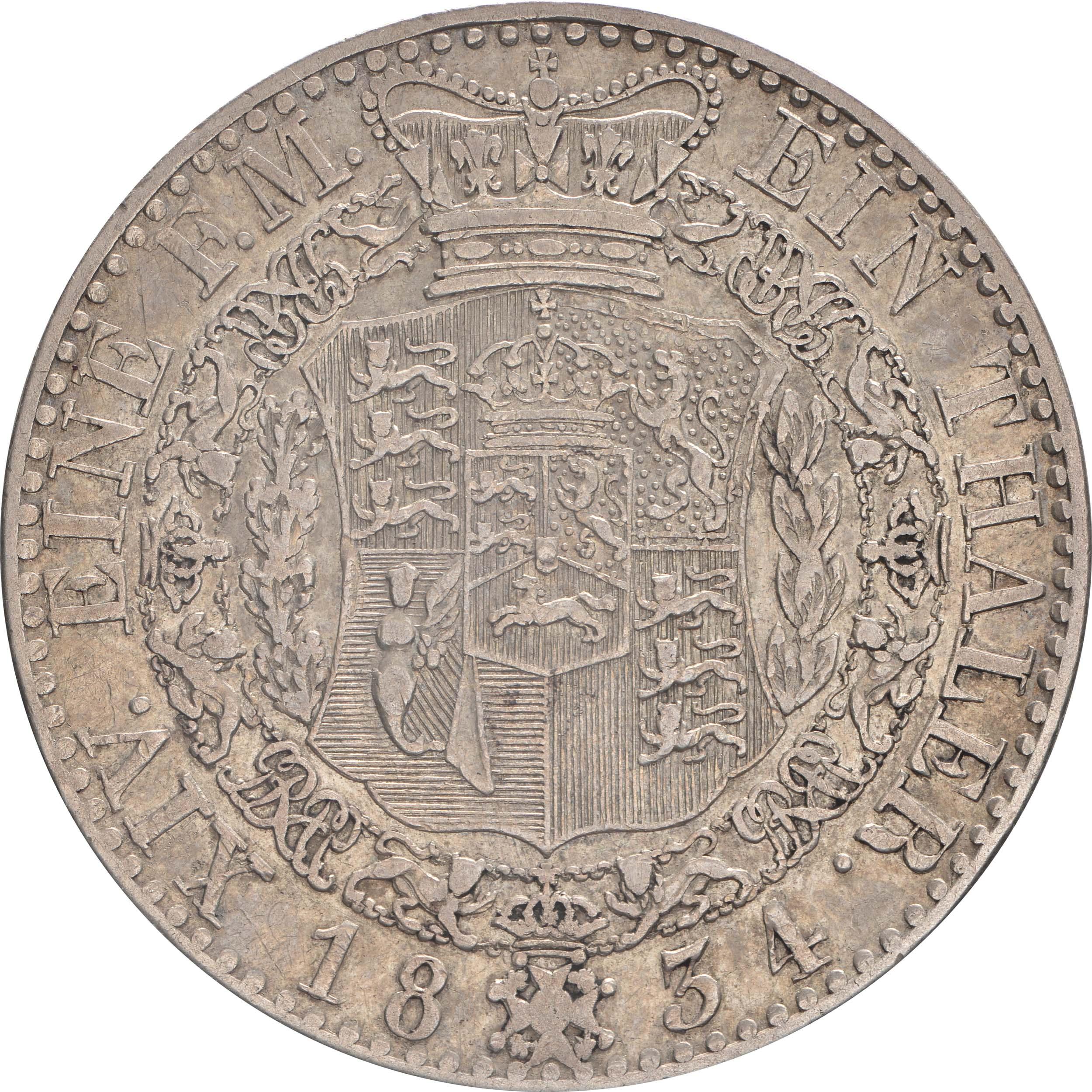 Rückseite :Deutschland : 1 Taler Wilhelm IV 1830 - 1837  1834 ss.