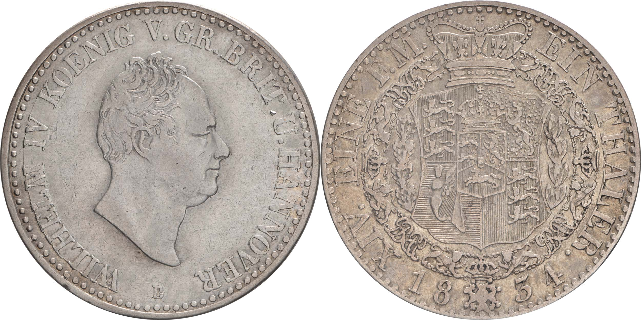 Deutschland : 1 Taler Wilhelm IV 1830 - 1837  1834 ss.