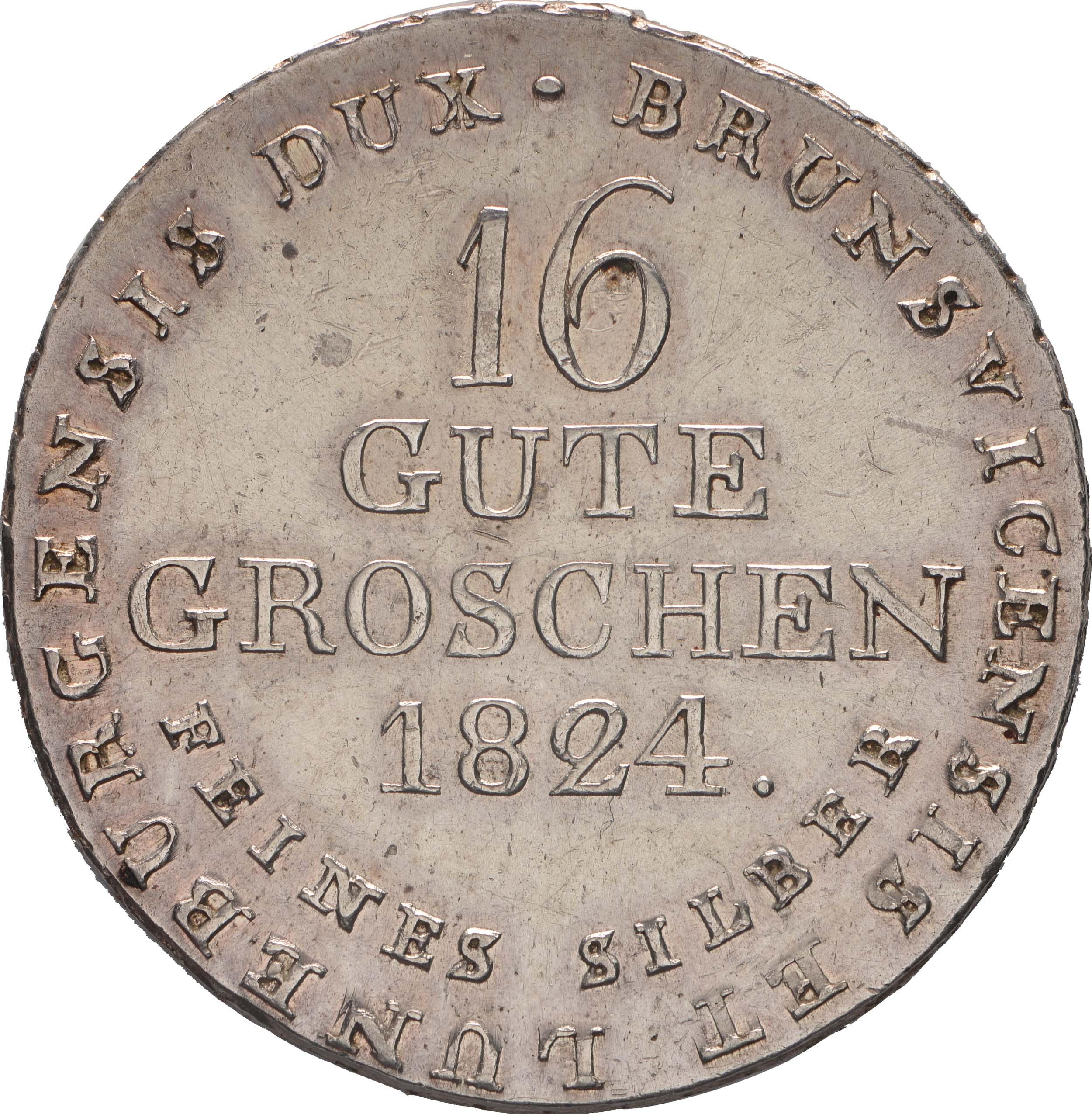 Rückseite:Deutschland : 16 Gute Groschen Georg IV 1820 - 1830  1824 ss/vz.