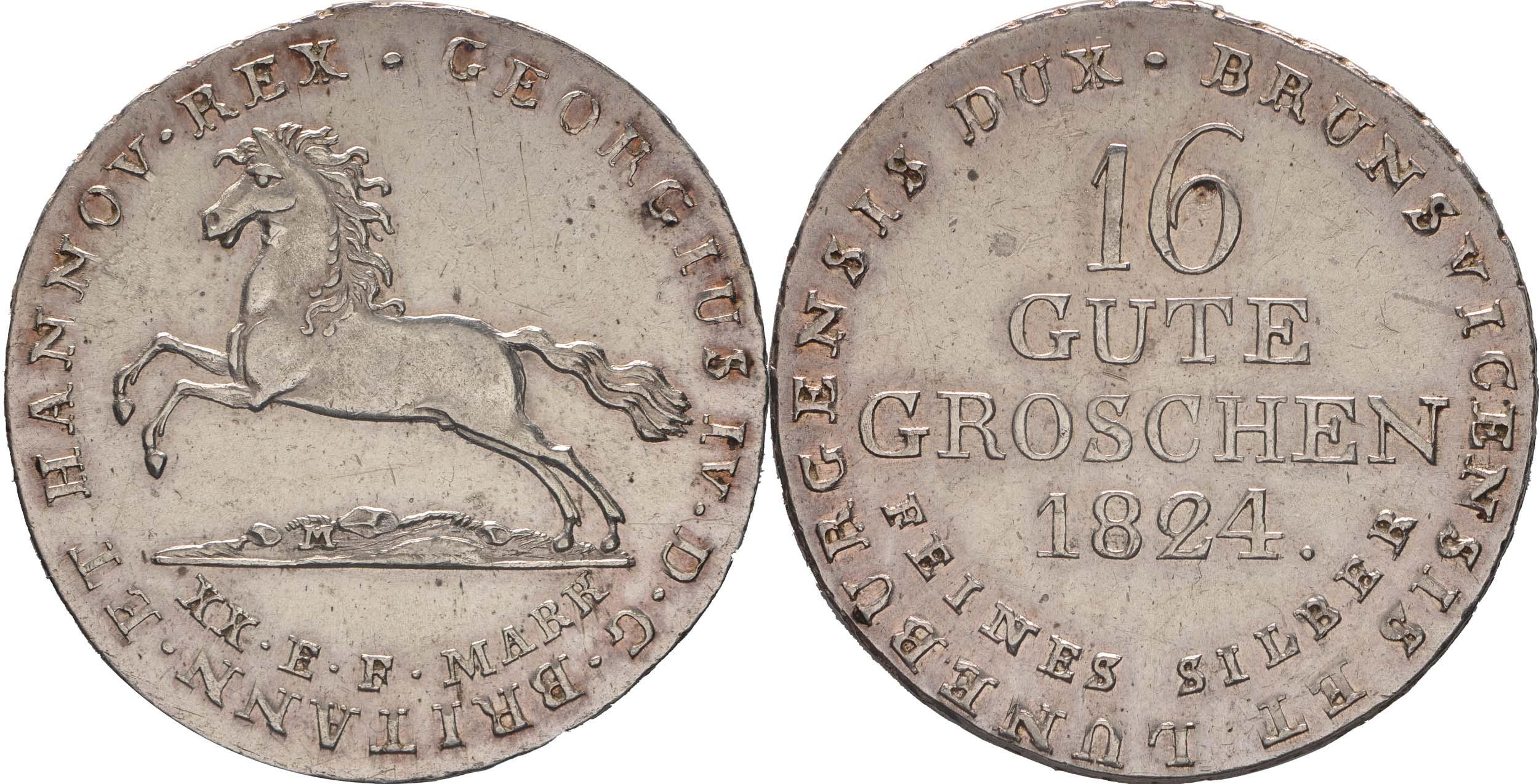 Deutschland : 16 Gute Groschen Georg IV 1820 - 1830  1824 ss/vz.