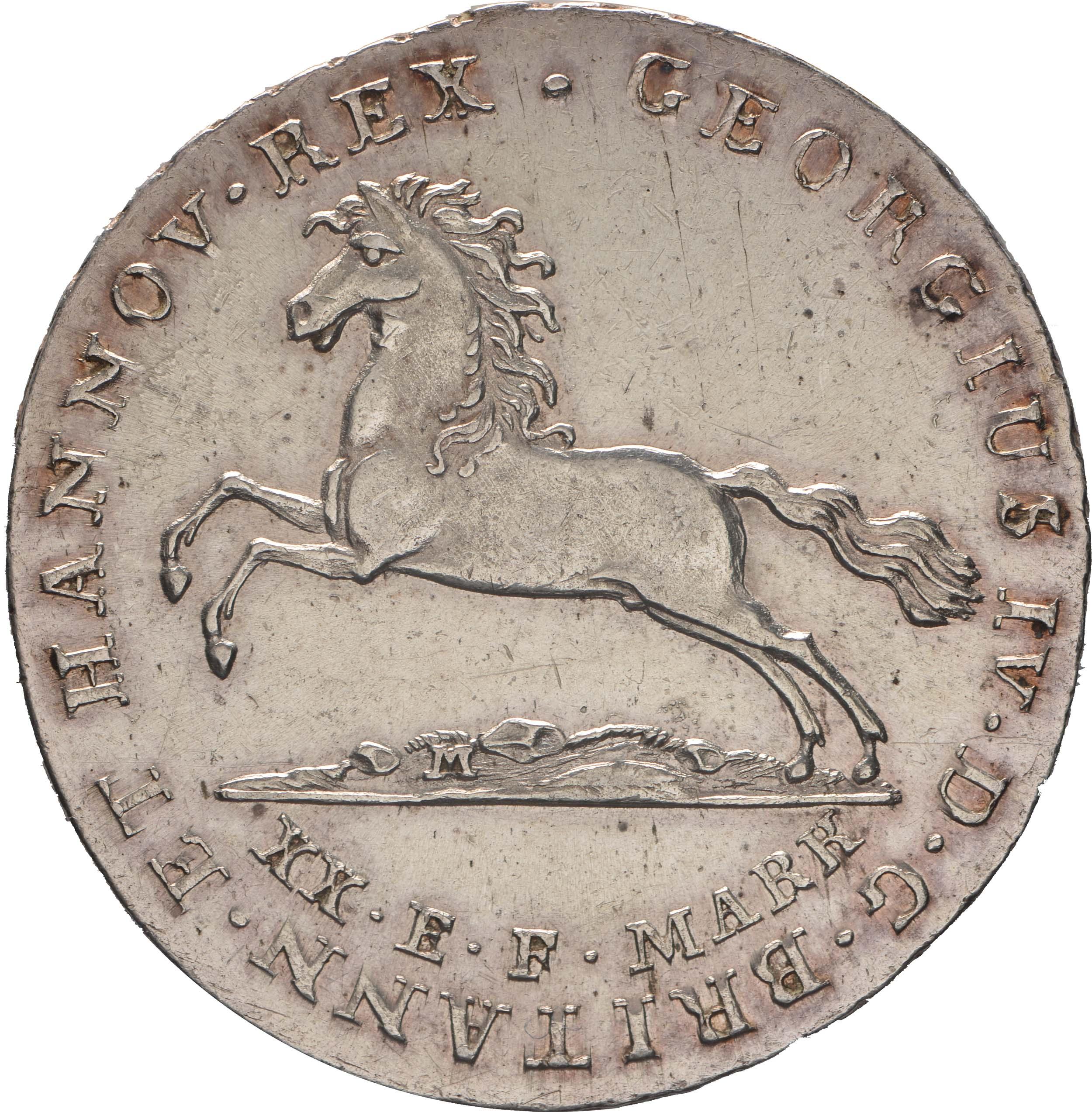 Vorderseite:Deutschland : 16 Gute Groschen Georg IV 1820 - 1830  1824 ss/vz.