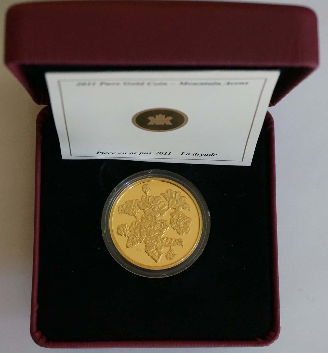 Kanada : 350 Dollar Silberwurz -selten- 2011 PP