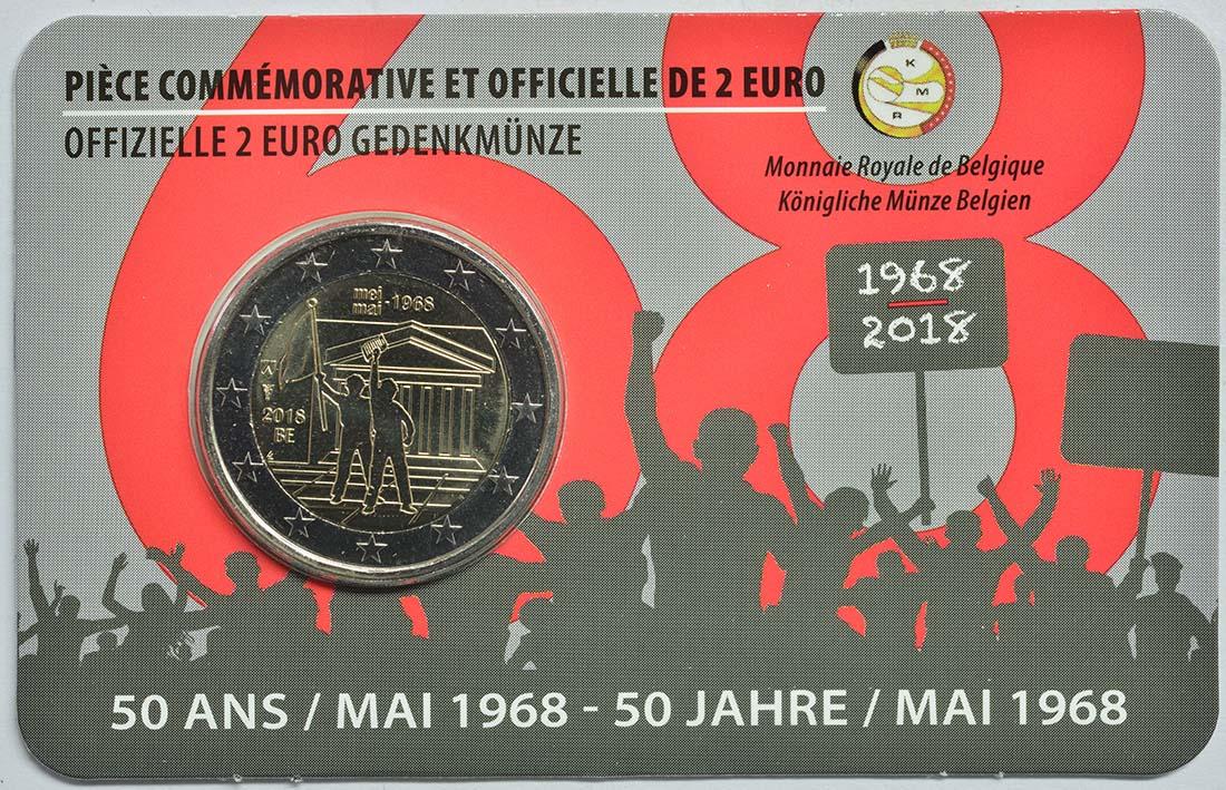 Übersicht:Belgien : 2 Euro Studentenaufstand 1968  2018 Stgl.
