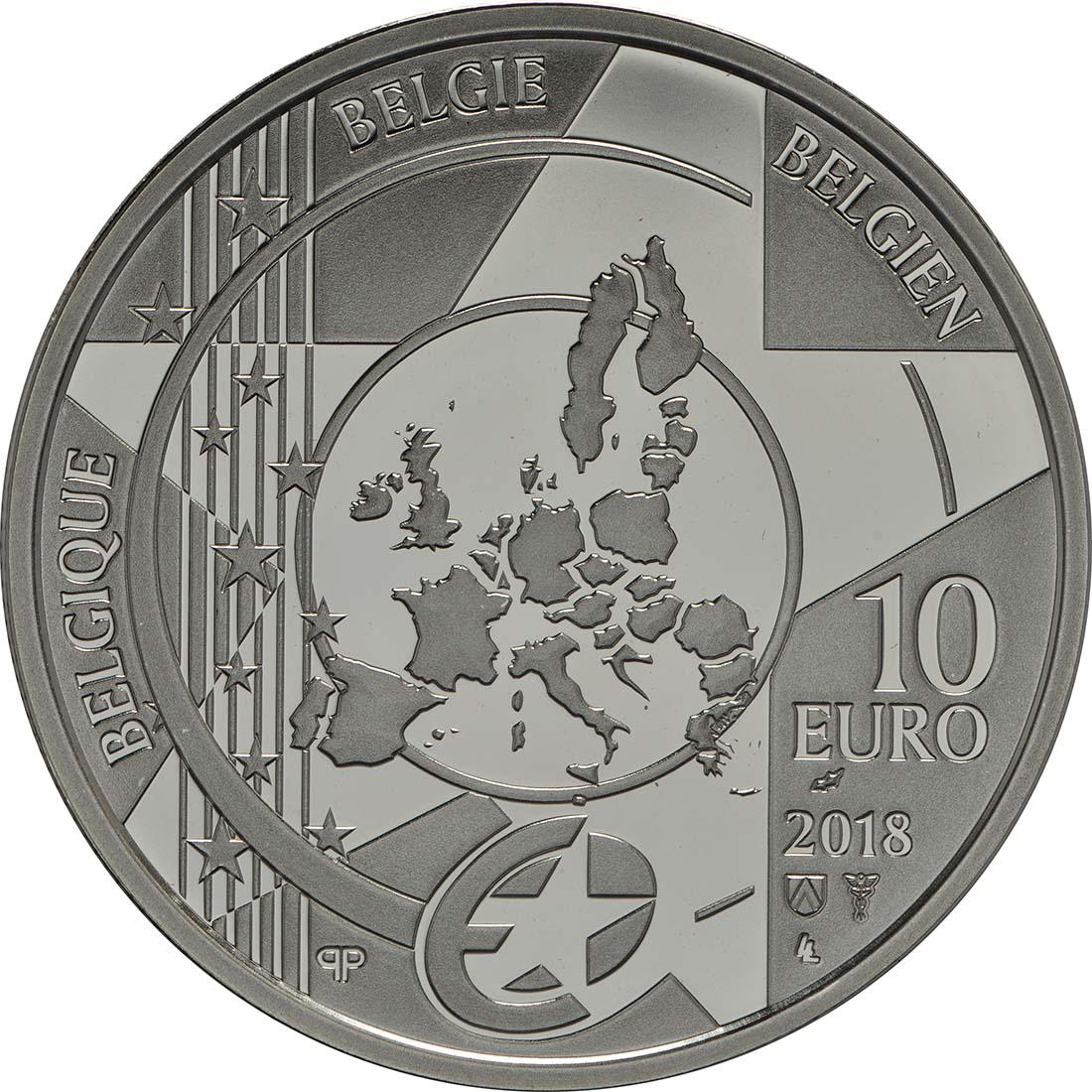 Rückseite:Belgien : 10 Euro Rubens  2018 PP