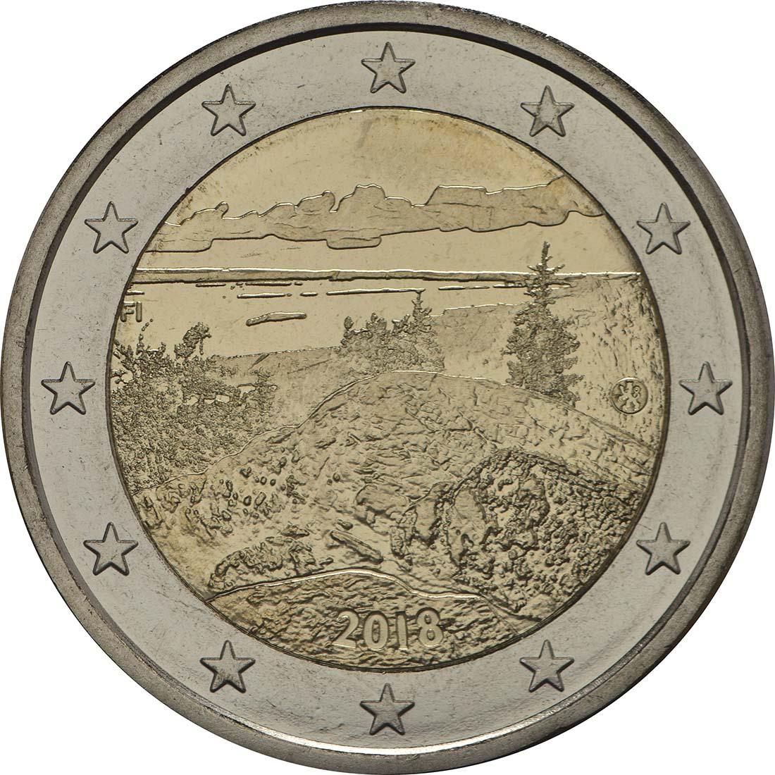 Bild der Rückseite :Finnland - 2 Euro Koli Nationalpark  2018 bfr