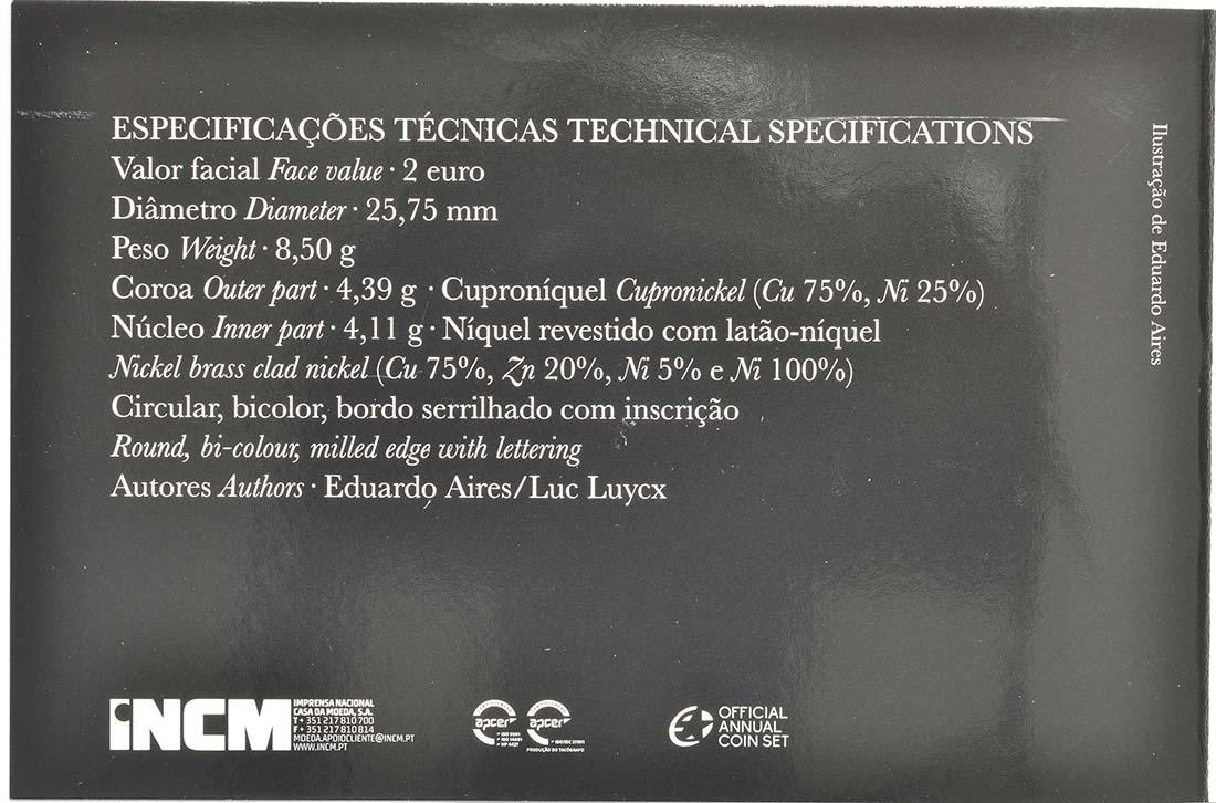 Zertifikat:Portugal : 2 Euro 250 Jahre staatliche Prägestätte INCM  2018 PP