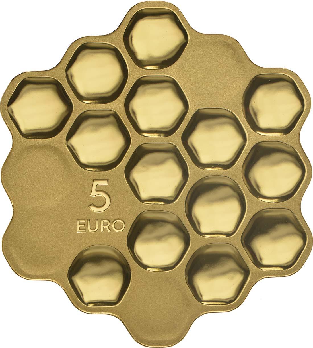 Rückseite:Lettland : 5 Euro Honigmünze  2018 PP