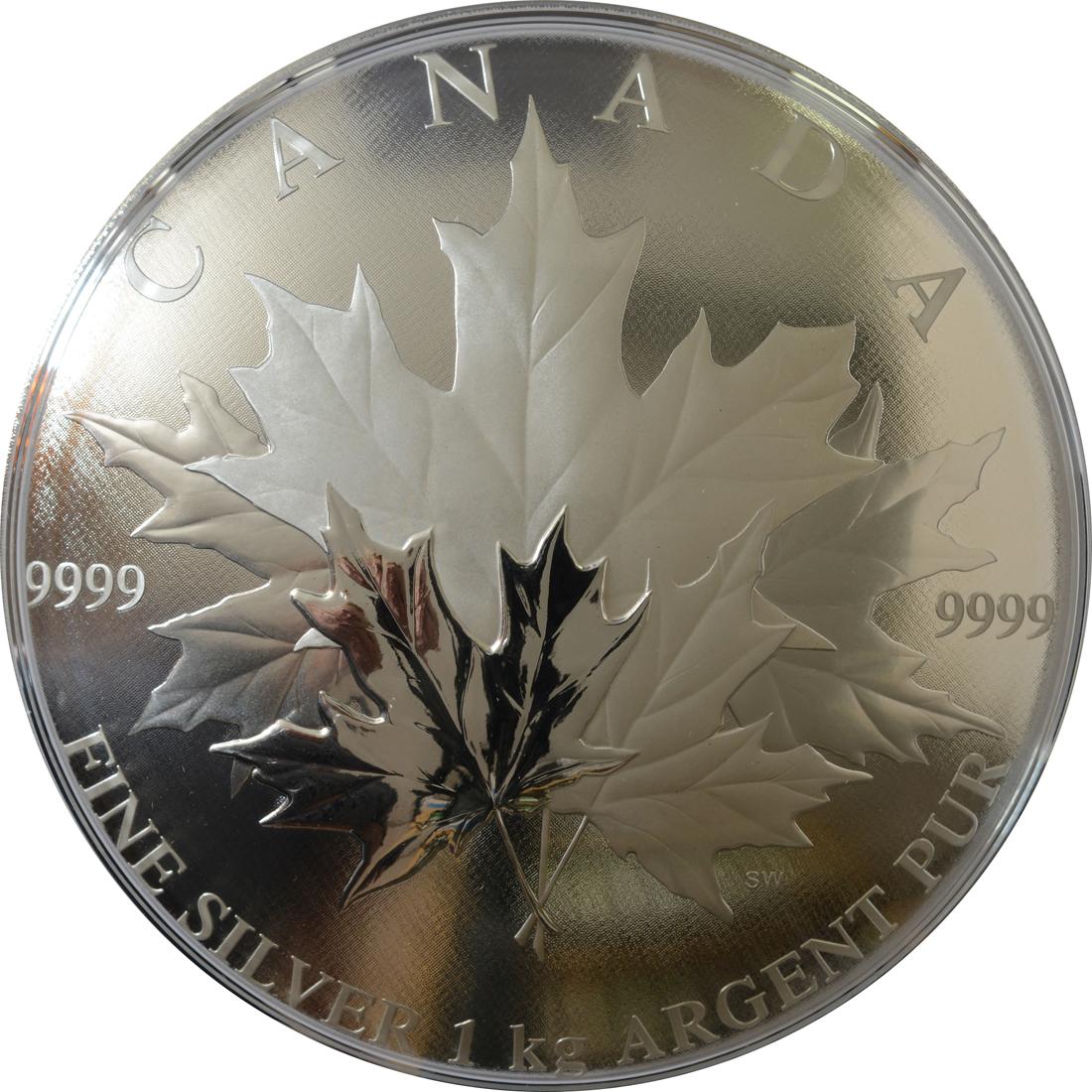 Vorderseite:Kanada : 250 Dollar Maple Leaf Forever - konvex 1 kg  2018 PP