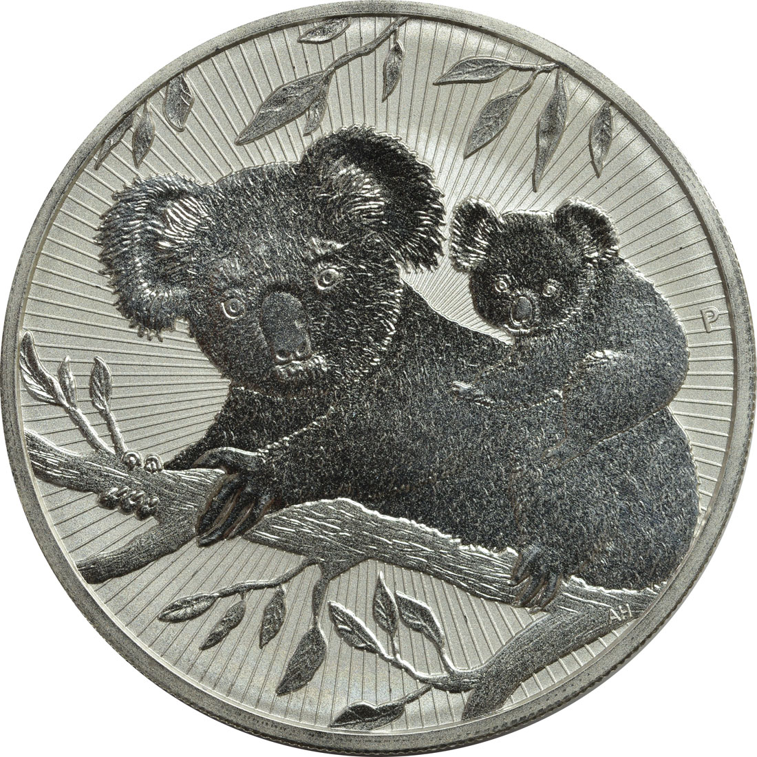Vorderseite:Australien : 2 Dollar Koala - Piedfort  2018 PP