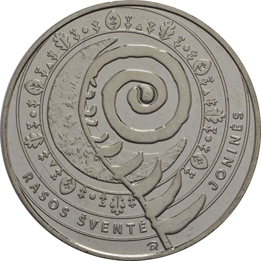 Vorderseite:Litauen : 1,5 Euro Jonines (Rasos)  2018 bfr