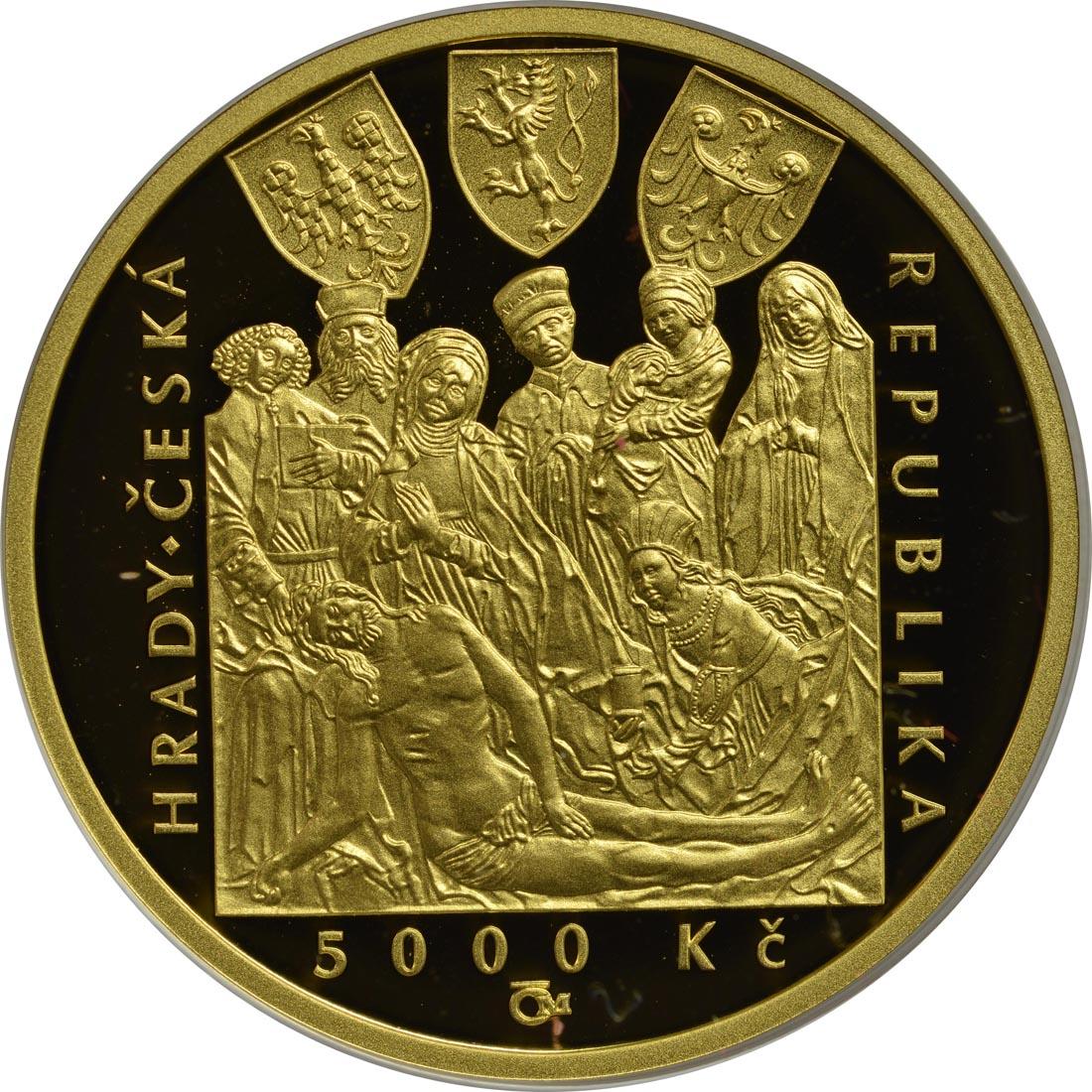 Rückseite:Tschechische Republik : 5000 Kronen Burg Zvikov - Tschechische Burgen  2018 PP