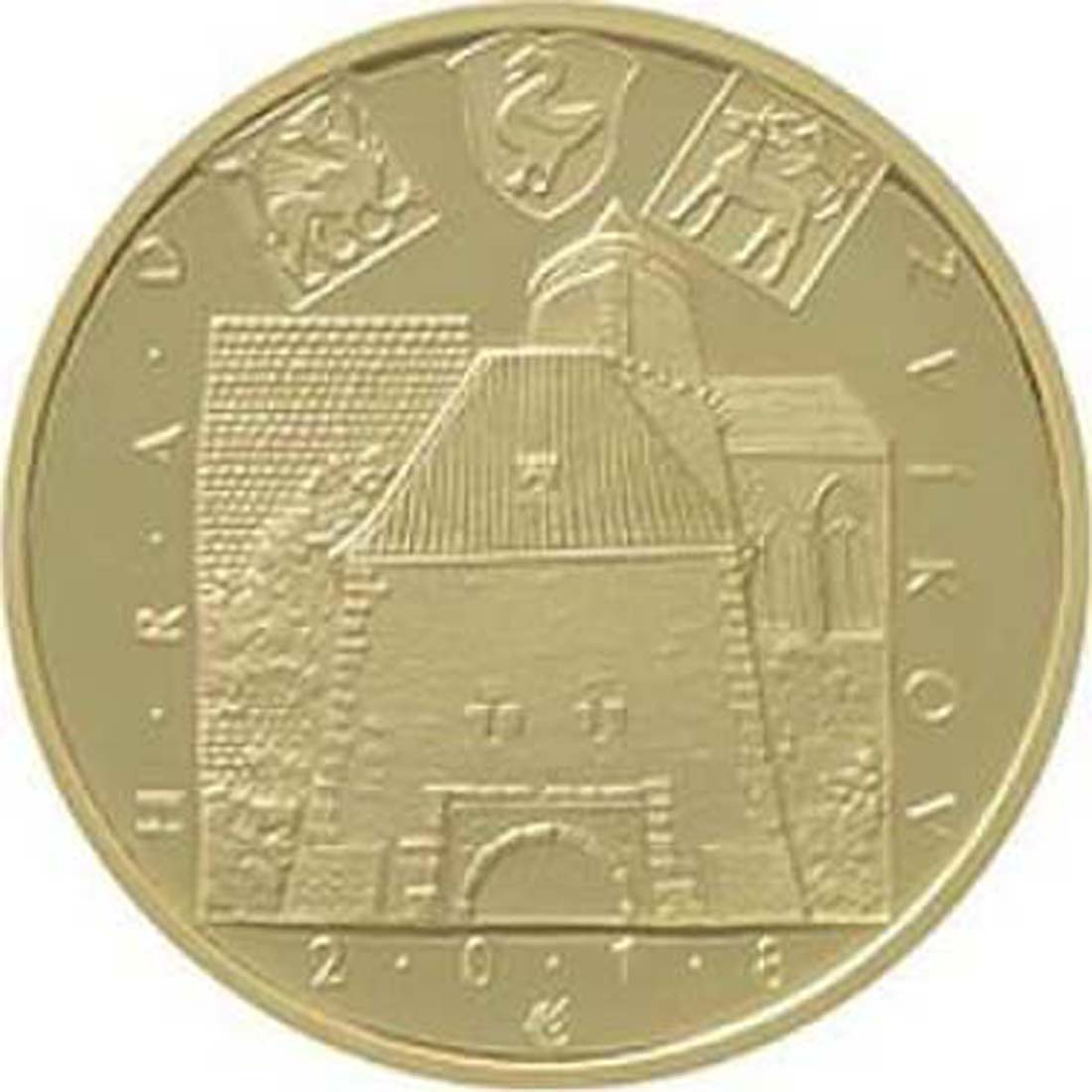 Bild des Lieferumfangs :Tschechische Republik - 5000 Kronen Burg Zvikov - Tschechische Burgen  2018 Stgl.