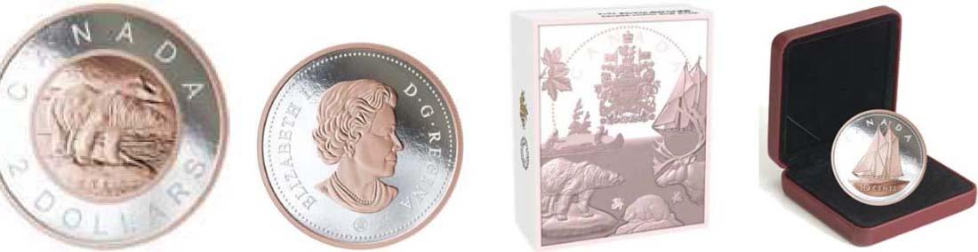 Bild des Lieferumfangs :Kanada - 50 Cent Große Münzen - Eisbär  2018 PP