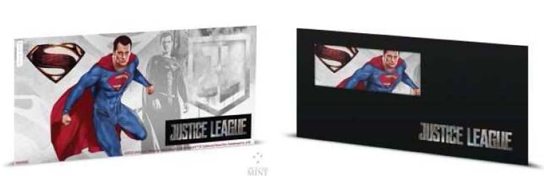 Übersicht:Niue : 1 Dollar Justice League – Superman Silberbanknote  2018 Stgl.