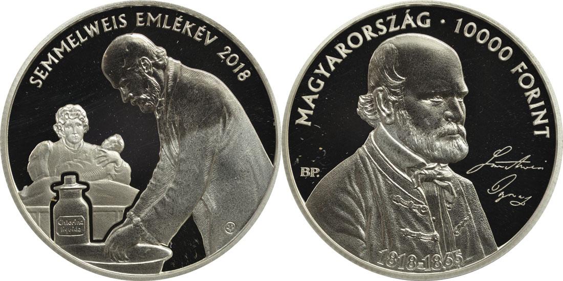 Lieferumfang:Ungarn : 10000 Forint 200. Geburtstag Ignaz Semmelweis  2018 PP