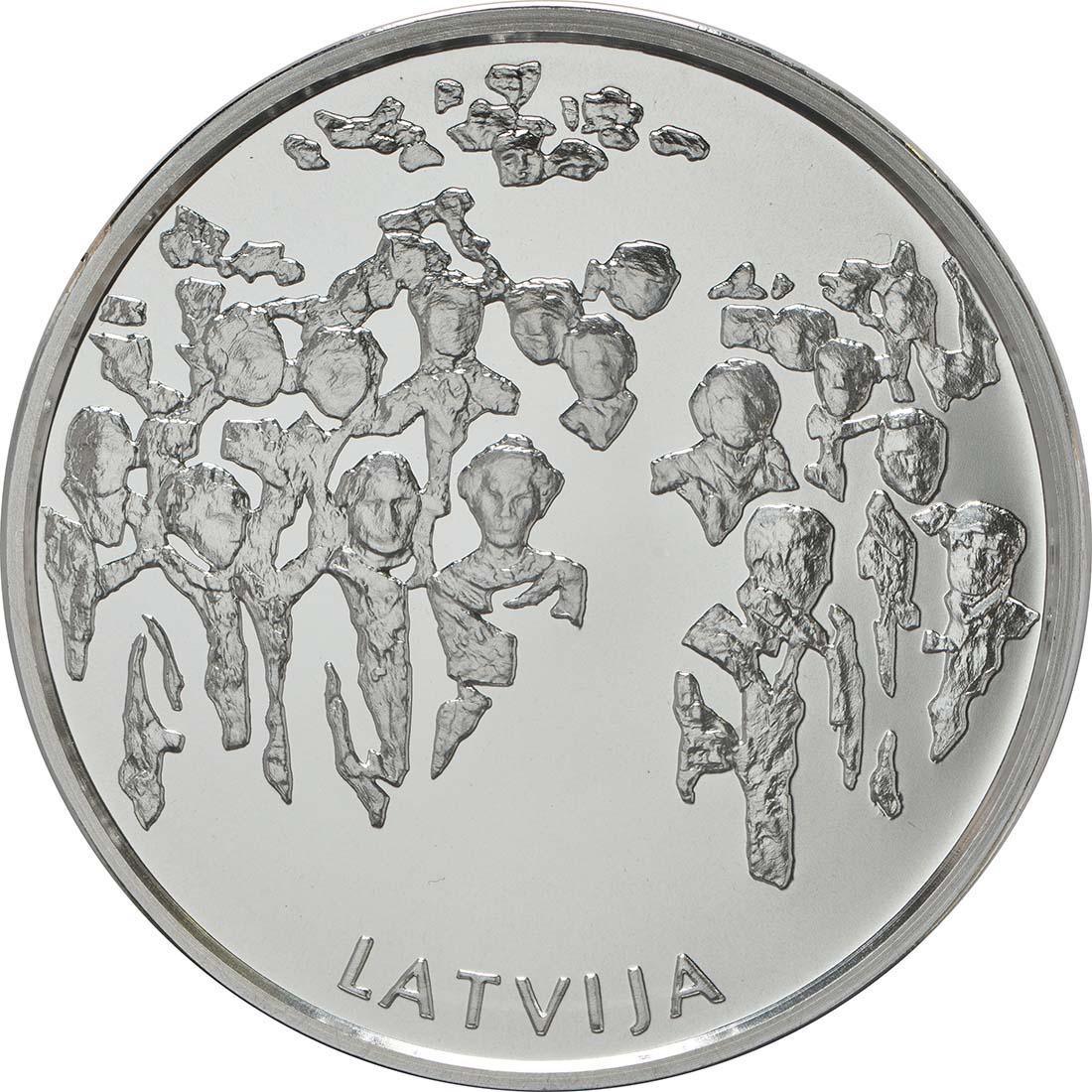 Rückseite:Lettland : 5 Euro Der Garten des Schicksals  2018 PP