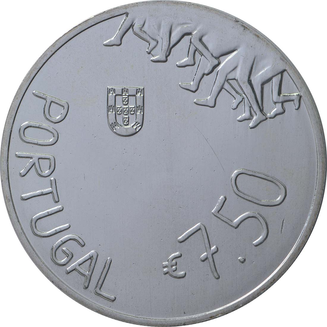 Rückseite:Portugal : 7,5 Euro Rosa Mota  2018 vz.