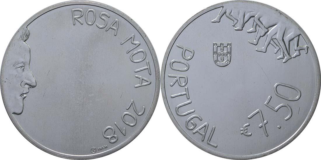 Lieferumfang:Portugal : 7,5 Euro Rosa Mota  2018 vz.