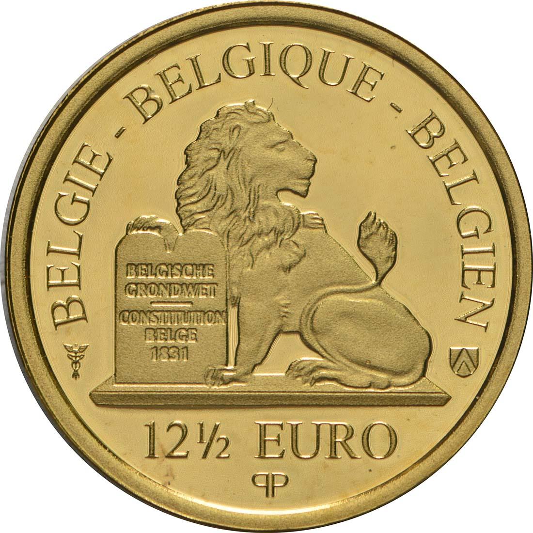 Rückseite:Belgien : 12,5 Euro Königin Louise Marie d´Orleans  2018 PP