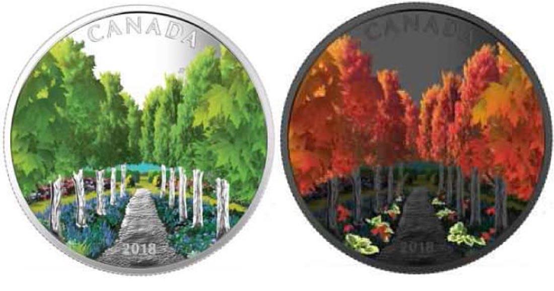 Übersicht:Kanada : 20 Dollar Ahornbaum-Tunnel - mit Schwarzlichttaschenlampe  2018 PP