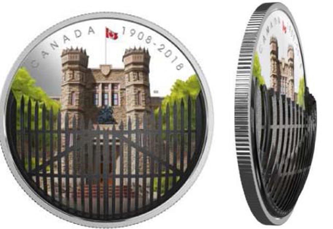 Kanada : 30 Dollar 110 J. Royal Can. Mint - mit Filigree Bronzetor  2018 PP