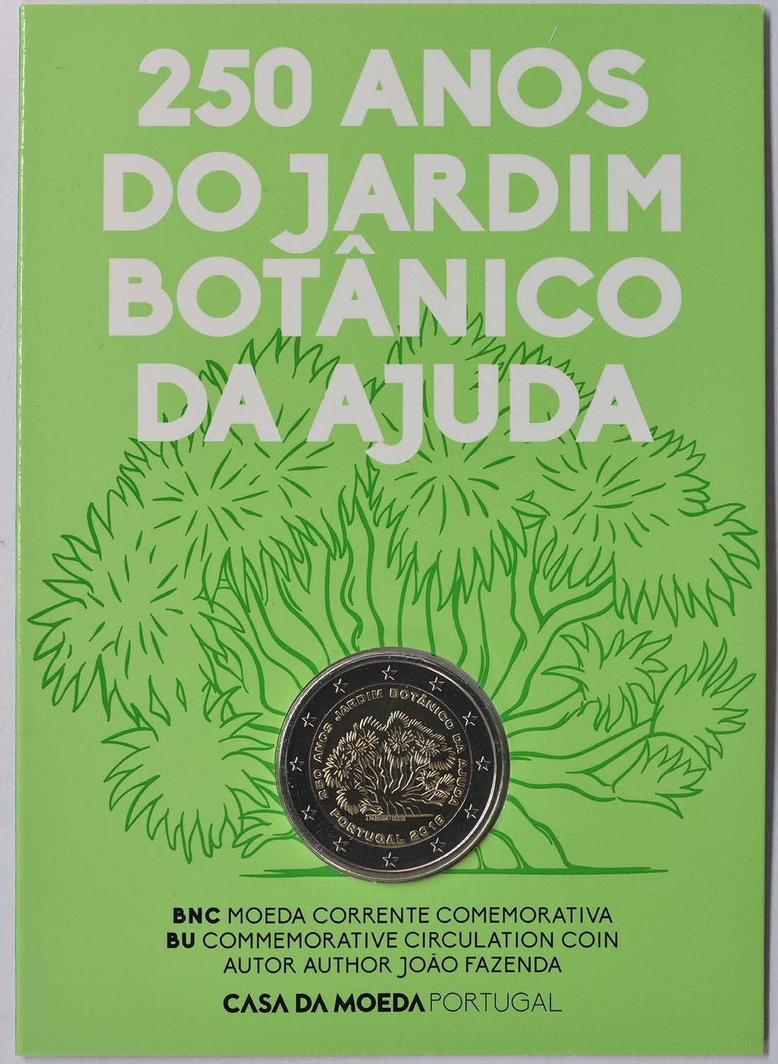 Lieferumfang:Portugal : 2 Euro 250 Jahre Botanischer Garten von Ajuda  2018 Stgl.
