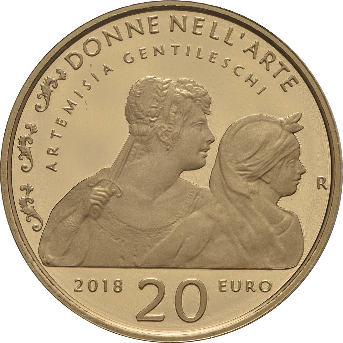 Rückseite:Italien : 20 Euro Artemisia Gentileschi  2018 PP