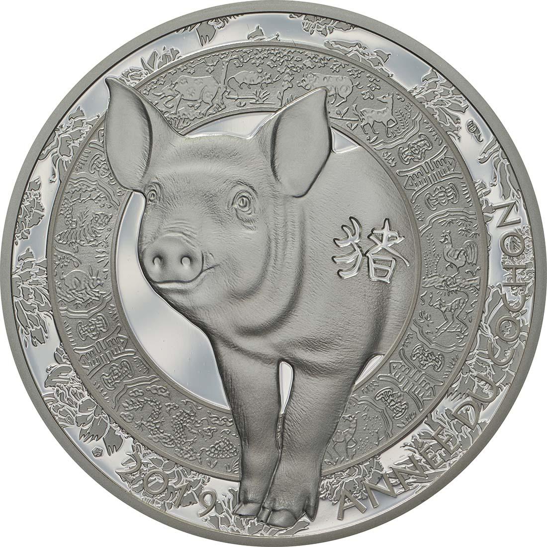 10 euro jahr des schweins 2019 pp frankreich. Black Bedroom Furniture Sets. Home Design Ideas