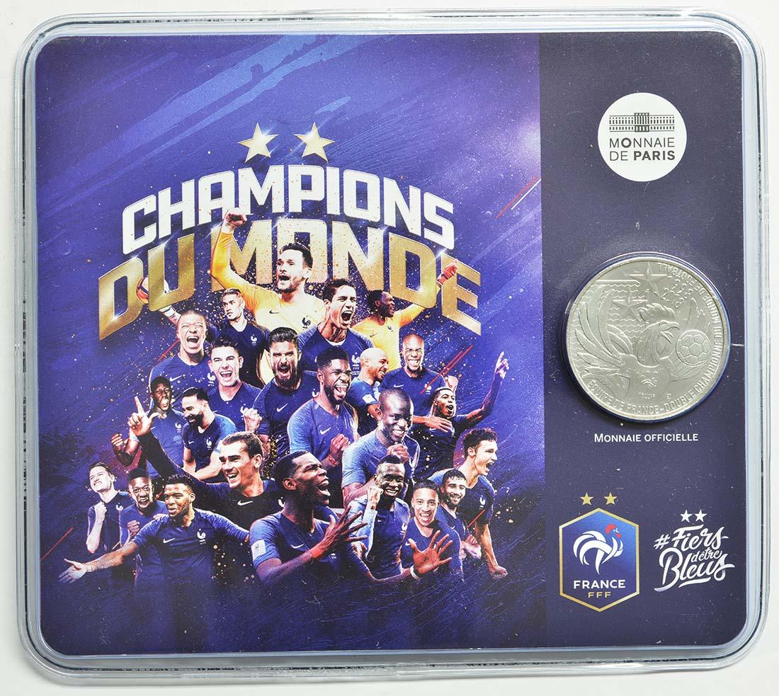 Lieferumfang:Frankreich : 10 Euro Frankreich ist Fußball-Weltmeister 2018  2018 bfr