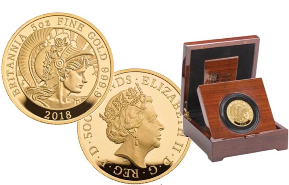 Lieferumfang:Großbritannien : 500 Pfund Britannia  2018 PP