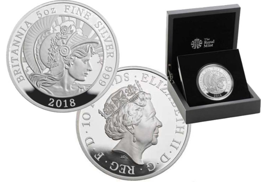 Übersicht:Großbritannien : 10 Pfund Britannia  2018 PP