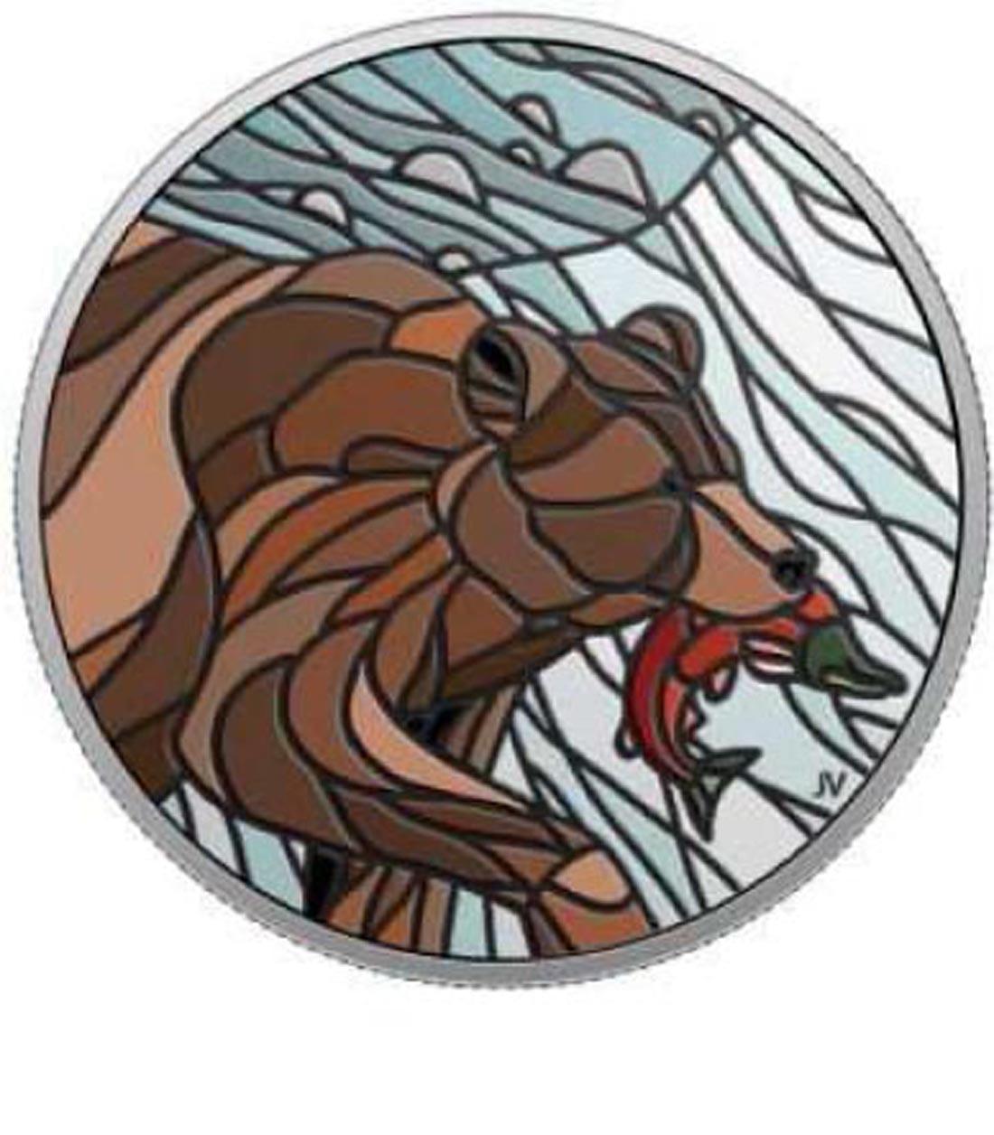 Übersicht:Kanada : 20 Dollar Kanadisches Mosaik - Grizzly  2018 PP