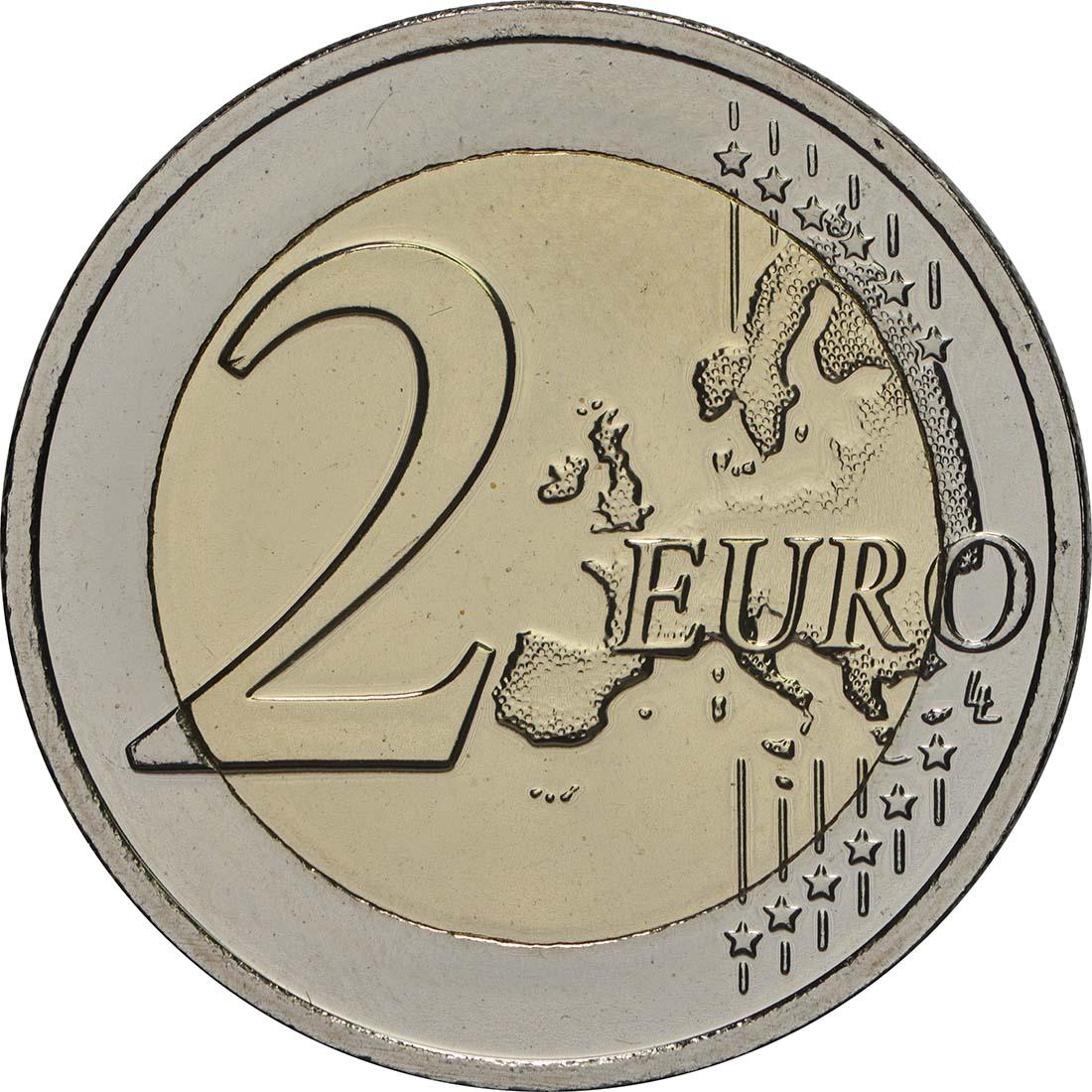 Vorderseite:Belgien : 2 Euro ESRO-2B Satellit  2018 bfr