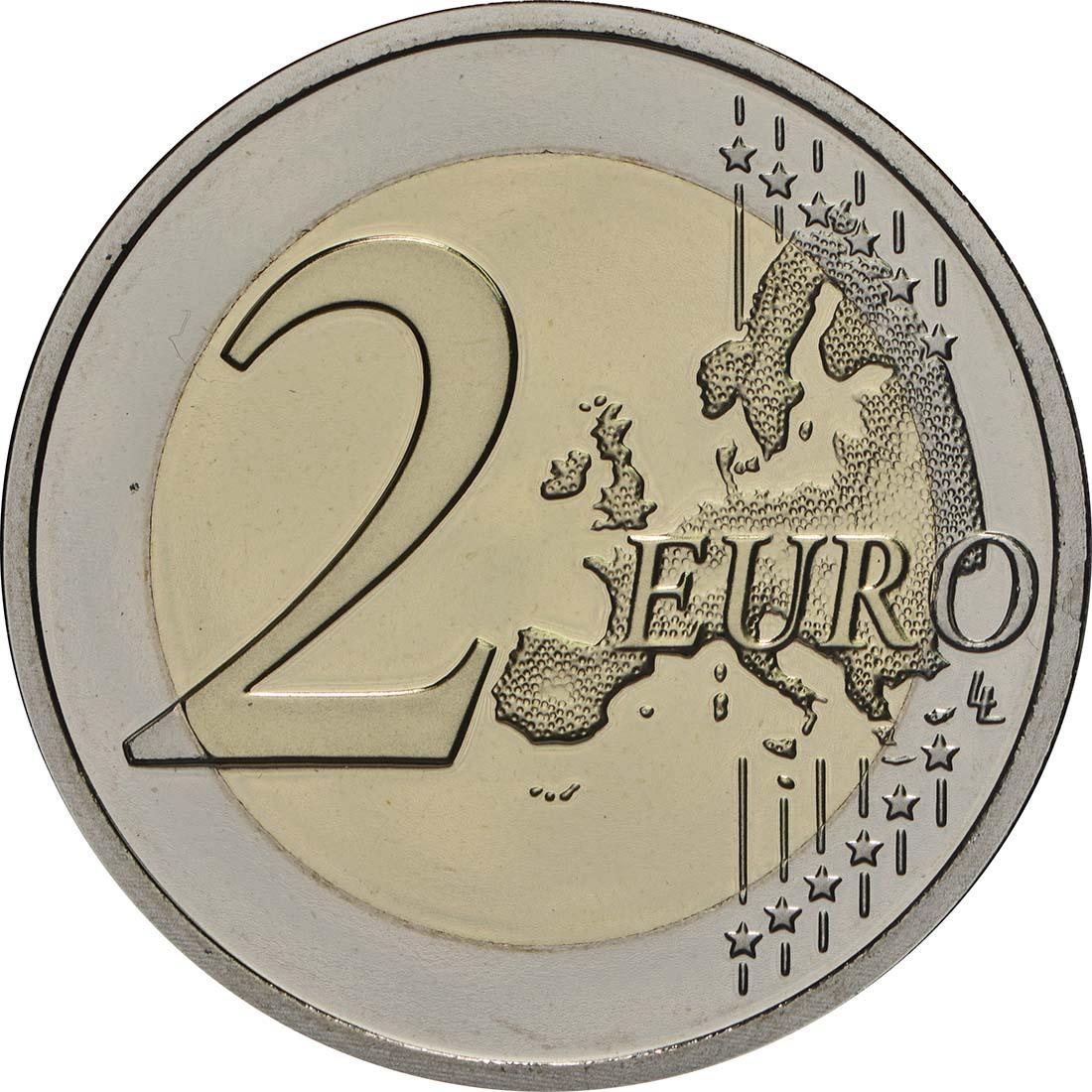 Vorderseite:Belgien : 2 Euro ESRO-2B Satellit  2018 PP
