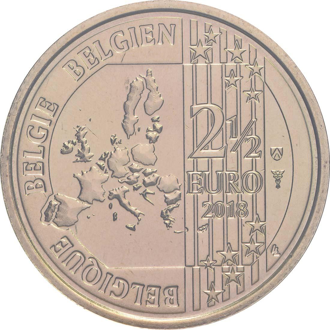 Rückseite:Belgien : 2,5 Euro 400 Jahre Mont-de-piété  2018 bfr