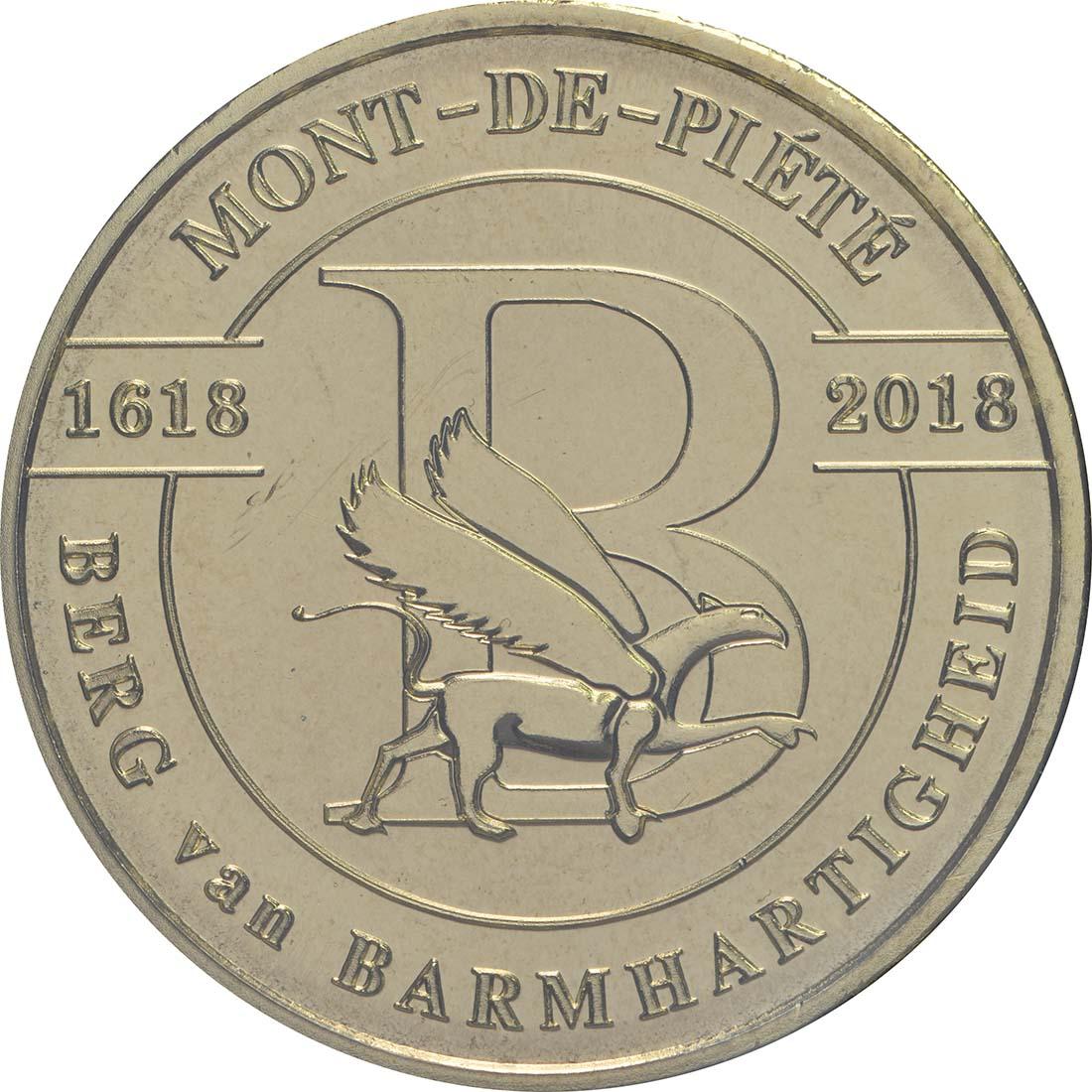 Vorderseite:Belgien : 2,5 Euro 400 Jahre Mont-de-piété  2018 bfr