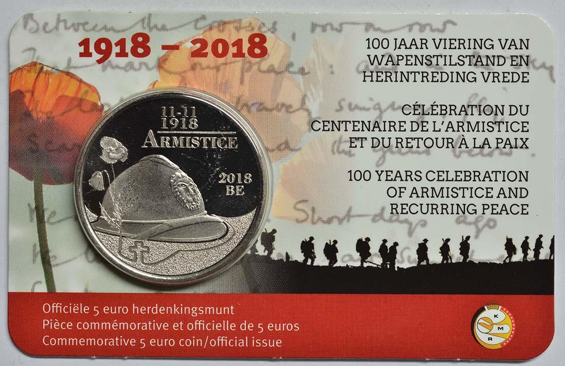 Lieferumfang:Belgien : 5 Euro 100 Jahre Waffenstillstand  2018 bfr