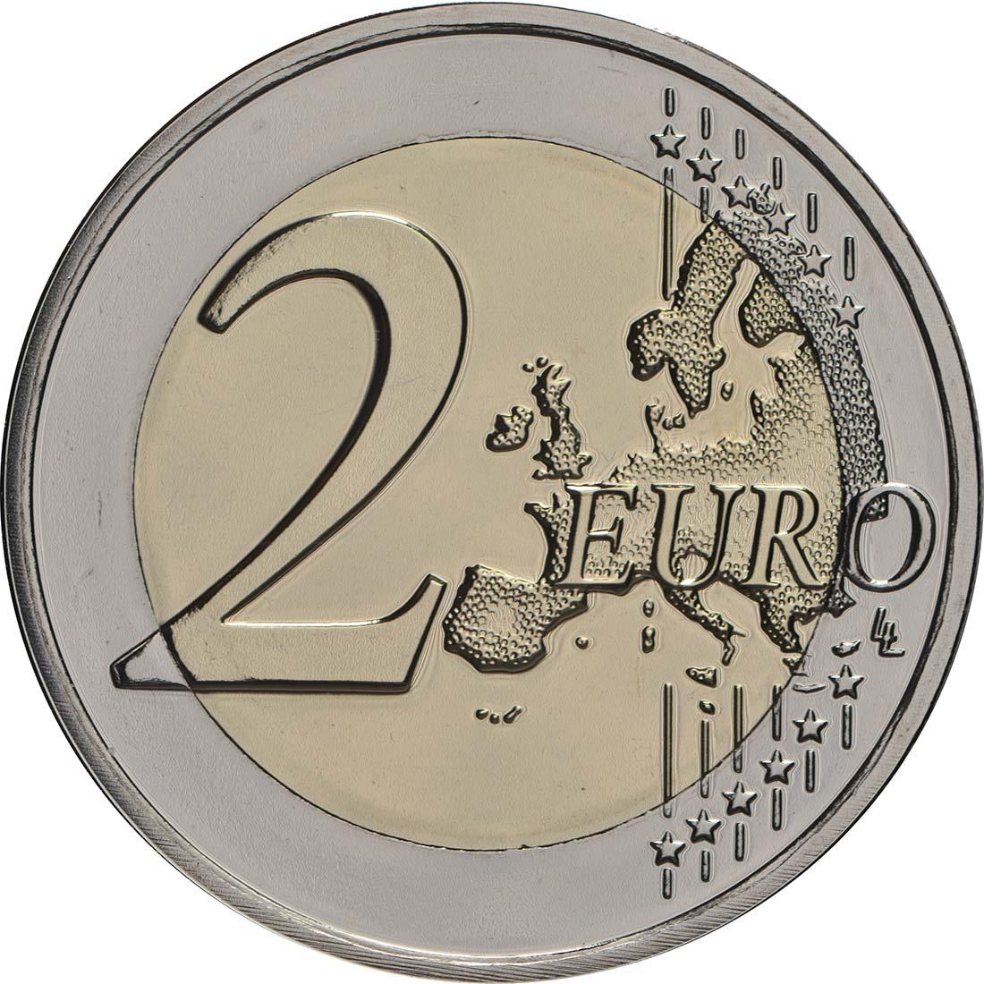 Vorderseite:Luxemburg : 2 Euro 175. Todestag von Großherzog Guillaume I. - Münzzeichen Brücke  2018 Stgl.